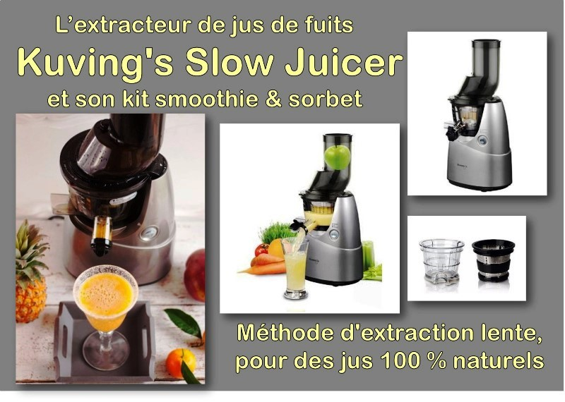 Extracteur de jus Kuwing's Slow Juicer B6000