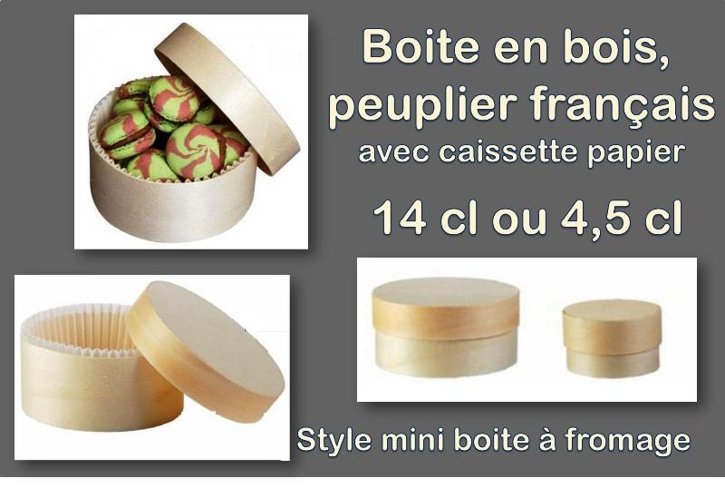 Boite en peuplier Français, style boite à fromage